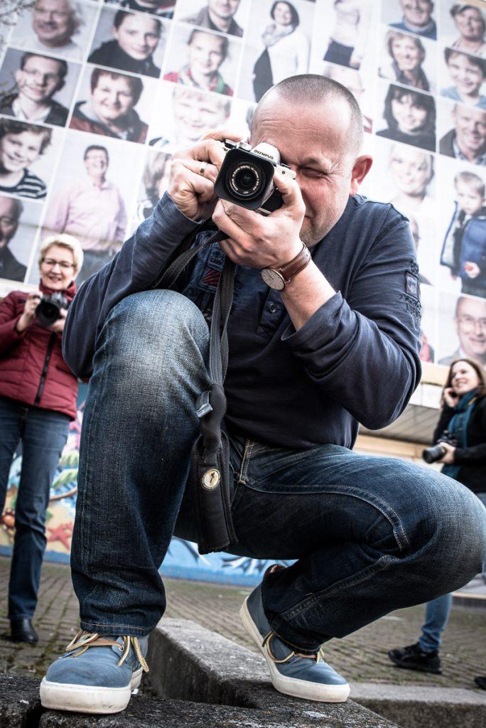 Teilnehmer beim Fotokurs